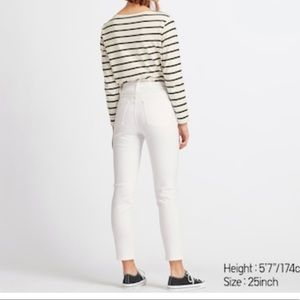 🌟 UNIQLO HIGH RISE SKINNY ANKLE JEANS IN WHITE